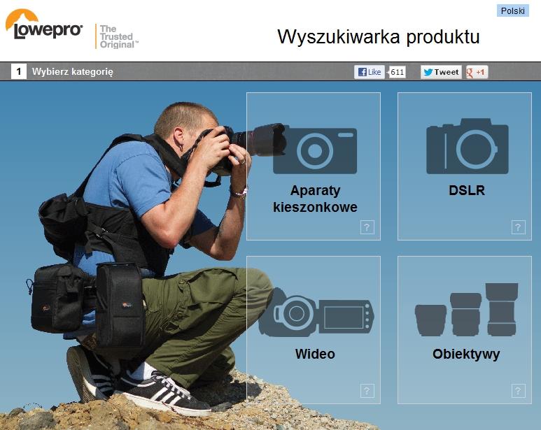 Wyszukiwarka toreb i plecaków fla fotografów Lowepro